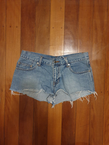 Living Doll Womens Short Denim Jeans Size 10