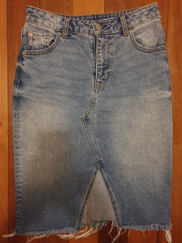 H & M Womens Denim Skirt Size Eur 34