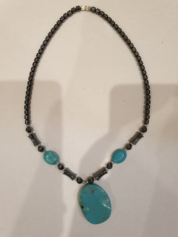 Beautiful Blue Stone Womens Necklace