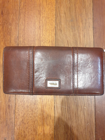 Valenti Brown Leather Womens Purse