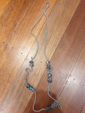 Blue Stone & Silver Womens Necklace