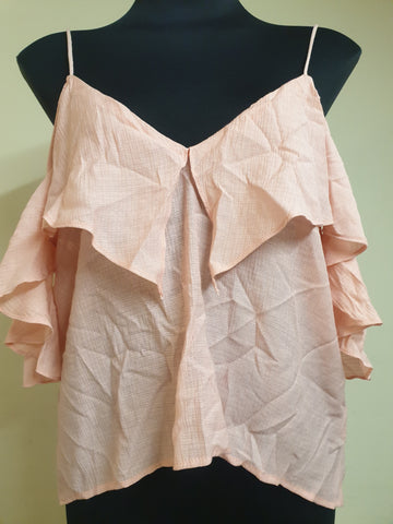 SAINTS + SECRETS Peach Top  Size 10