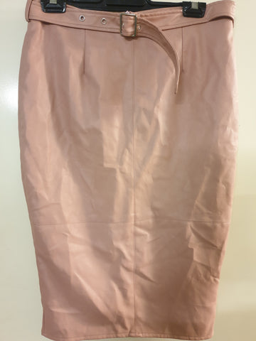 Missguided Faux Leather Dusty Pink Skirt BNWT Womens Size 12