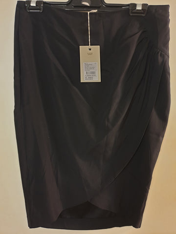 BNWT Country Road Black Silk Skirt Womens Size 10