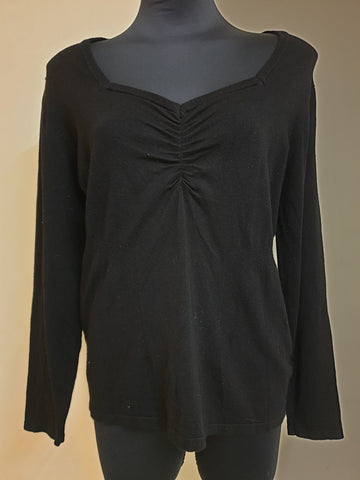Events Black Top Womens Size XL