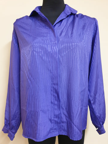 Shirts Inc. Vintage Electric Purple Top Womens Size 10