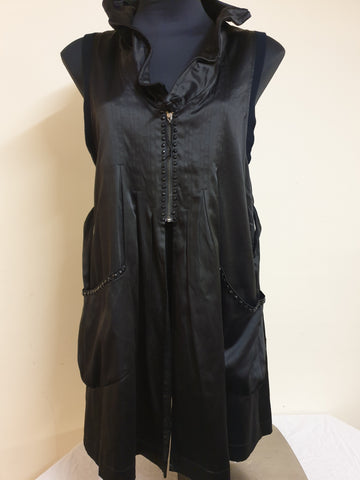 She's Gone La La Black Cape Jacket Womens Size M