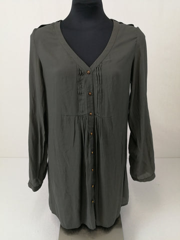 BLUEJUICE Moss Green Top Womens Size 10