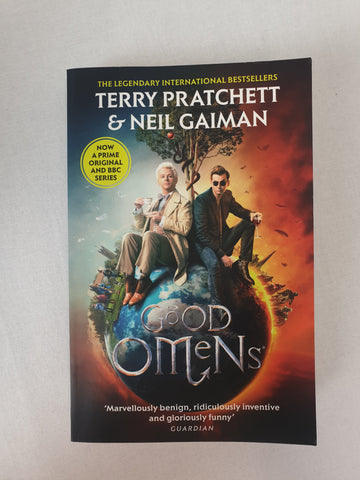 Good Omens by Terry Pratchett & Neil Gaiman Book BNWT