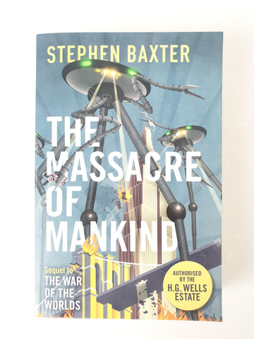 The Massacre of Mankind by Stephen Baxter Book BNWT