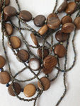 Wooden Beaded Necklace Womens Accessory