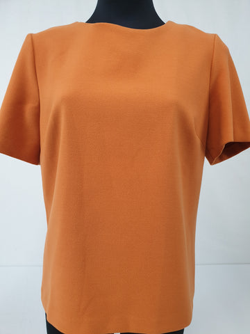 WHITE Bright Orange Top Womens Size 12