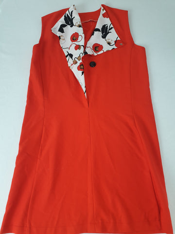 Vintage Handmade 70's Style Red Dress