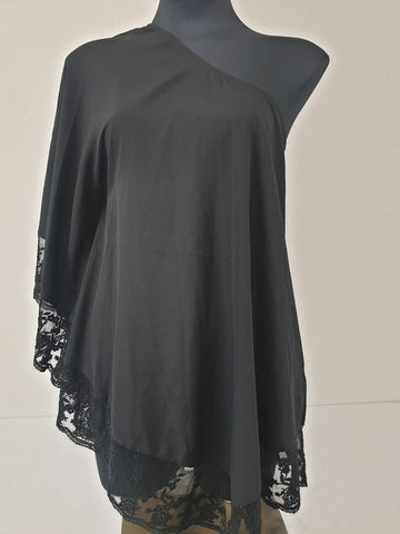 Vera Moda Black & Lacey Throw Womens Size Medium