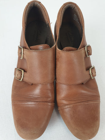 Clarks 'Vintage Style' Brown Shoes Womens Size 7