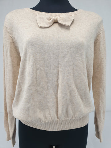 Princess Highway Cream Bowtie Cardigan Womens Size 14