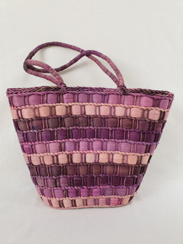 Bondi Beach Bag Co Purple Cotton Husk Bag