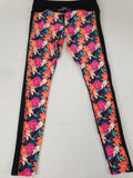 Lorna Jane Active Wear Floral 3/4 Tights Womens Size S