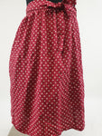 Some Days Lovin Polka Dot Red Skirt Womens Size S 8-10