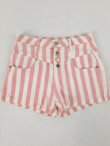 Denim Co Pinstriped Pink Shorts Girls Size 8