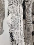 'Newspaper Print' Light Jacket Womens Size S