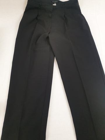 LIZ JORDAN Hi-Waist Front Pleats Black Pants Womens Size 12