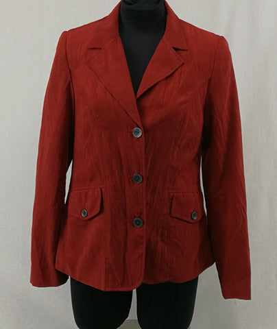 WOMBAT Red Blazer Jacket Womens Size S