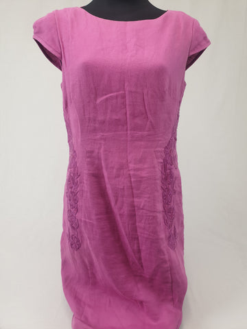 MONSOON Linen Dress Womens Size UK 12