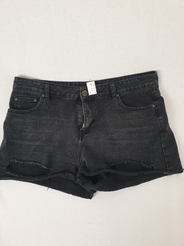 Factorie Black Jean Shorts Womens Size 14