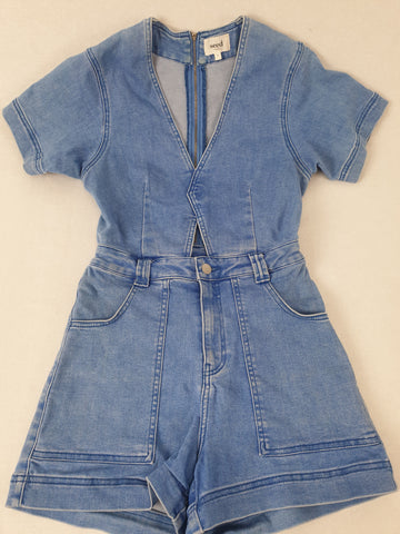 SEED Denim Playsuit Womens Size 8