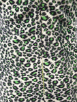 AS I AM Green Leopard Print Furry Velvet Dress Womens Size M
