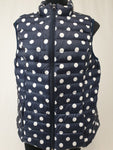 On Top Feather Polka Dot Vest Womens L