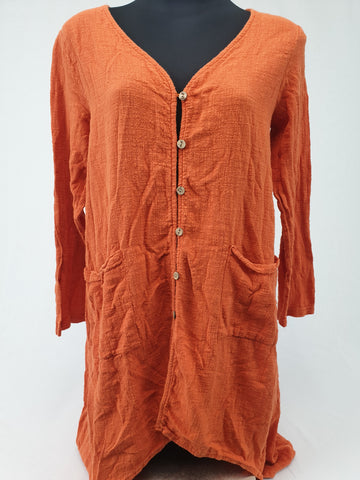 Orange 100% Cotton Dress or Top Womens Size XL