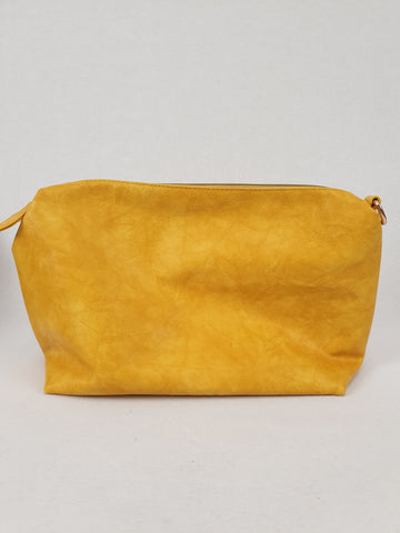 Bright Mustard Large Makeup Bag Womans Accessory