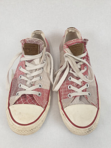Chequered Suede Converse Shoes Womens Size US 9 / EUR 40