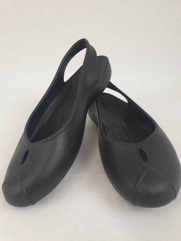 Iconic Crocs Comfort Black Shoes Womens Size 6