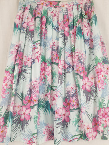 FOREVER NEW Floral Pleated Skirt Womens Size 8