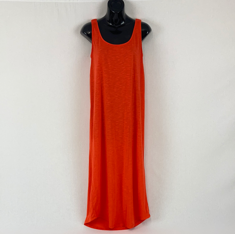 ANKO Semi Sheer Orange Maxi Dress Womens Size 10