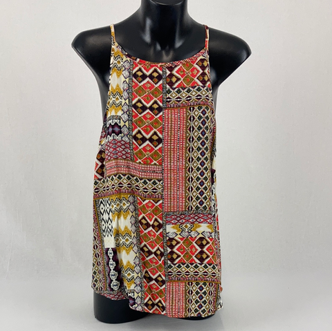 SILENCE AND NOISE Aztec Print Tank Top Womens Size 14 *Reduced*