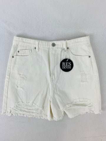 RES DENIM White Cotton Shorts Womens Size 27 BNWT RRP $79.95 *Reduced*