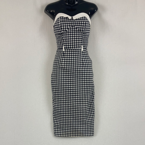 Collectif Vintage Style Gingham Dress Womens Size 10