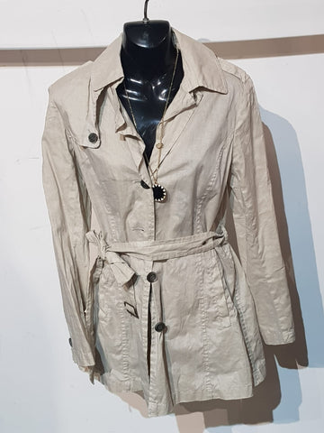 Mythanny Trench Style Coat Womens Size L