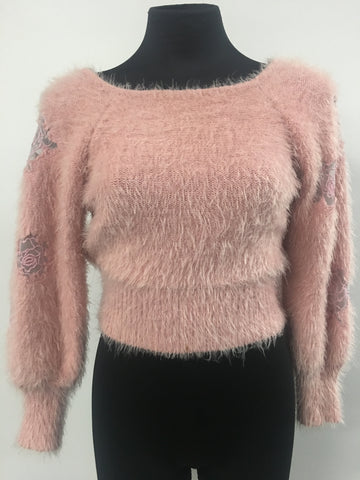 Lovely Girl Cropped Sweater Size M/L