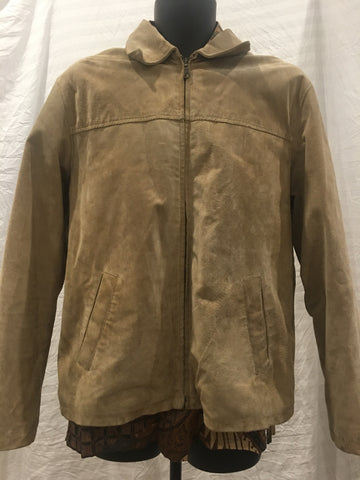 Jonathan Adams Camel Suede Jacket Mens Size M