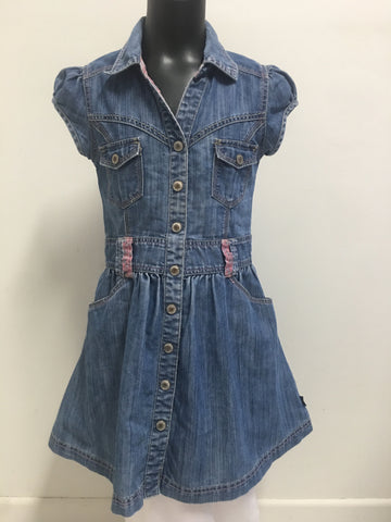 Pumpkin Patch Girls Denim Dress Size 9