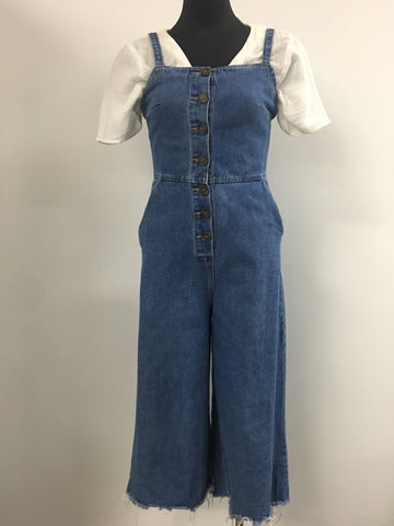 Miss Valley Womens Denim One Piece Size 8