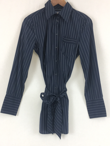 Esprit Pinstripe Button Up Womens Size 10