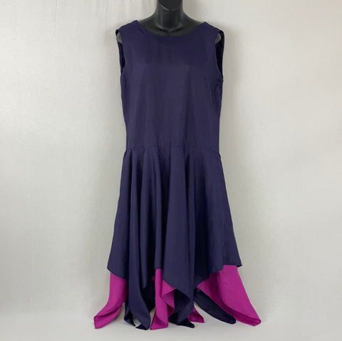 HANDSEWN Purple Handkerchief Dress Womens Size XL