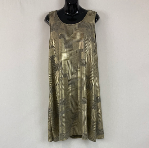 ESPRESSO Gold Sleeveless Dress Womens Size 16