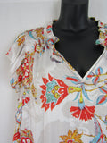 PIPER PETITES Frill Collar Floral Blouse Womens Size 16